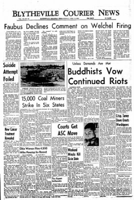 The Courier News from Blytheville, Arkansas on April 11, 1966 · Page 1