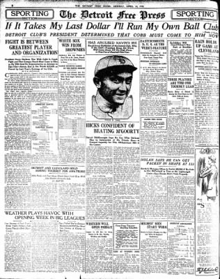 Detroit Free Press From Detroit Michigan On April 14 1913 Page 8