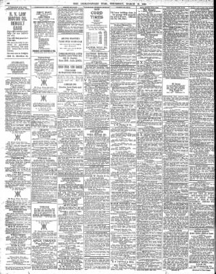 The Indianapolis Star From Indianapolis Indiana On March 18 1920