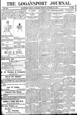 Logansport Pharos-Tribune from Logansport, Indiana on September 23, 1896 · Page 1