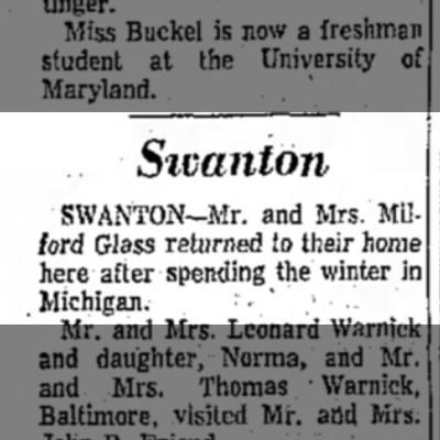 Grandma & Granddad - Sivanloji SWANTON—Mr. and Mrs. Milford Glass...