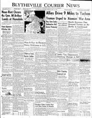 The Courier News from Blytheville, Arkansas on April 16, 1951 · Page 1