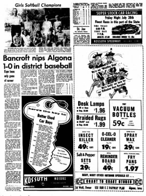 Kossuth County Advance from Algona, Iowa on July 27, 1967 · Page 6