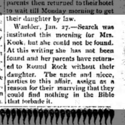 - their daughter by law. Waelder, Jan. 27.—Search...