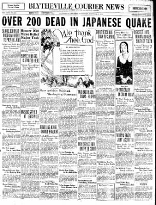 The Courier News from Blytheville, Arkansas on November 26, 1930 · Page 1