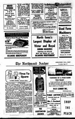 Kossuth County Advance from Algona, Iowa on September 21, 1967 · Page 26