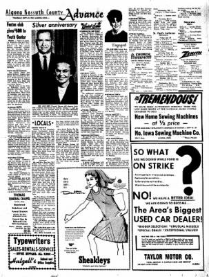 Kossuth County Advance from Algona, Iowa on September 28, 1967 · Page 9