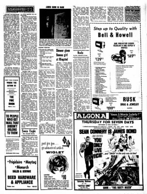 Kossuth County Advance from Algona, Iowa on September 28, 1967 · Page 11