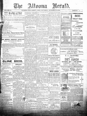 The Altoona Herald from Altoona, Iowa on November 21, 1896 · Page 1