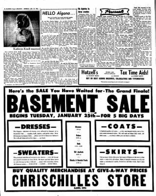 Kossuth County Advance from Algona, Iowa on January 24, 1966 · Page 8