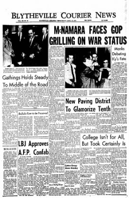 The Courier News from Blytheville, Arkansas on April 15, 1966 · Page 1