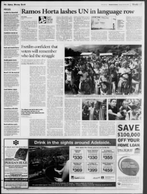 The Sydney Morning Herald from Sydney, New South Wales on August 25, 2001 · Page 369