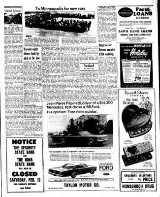 Kossuth County Advance from Algona, Iowa on February 10, 1966 · Page 11