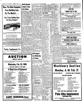 Kossuth County Advance from Algona, Iowa on February 17, 1966 · Page 6