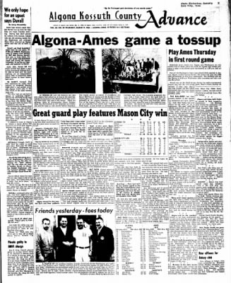 Kossuth County Advance from Algona, Iowa on March 17, 1966 · Page 1