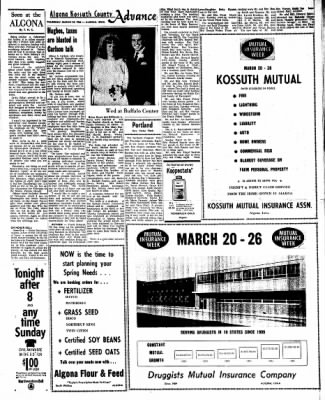 Kossuth County Advance from Algona, Iowa on March 24, 1966 · Page 15