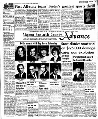 Kossuth County Advance from Algona, Iowa on March 31, 1966 · Page 1