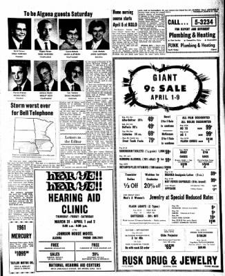 Kossuth County Advance from Algona, Iowa on March 31, 1966 · Page 9