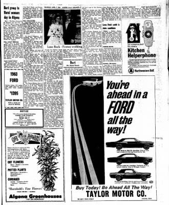 Kossuth County Advance from Algona, Iowa on April 7, 1966 · Page 15