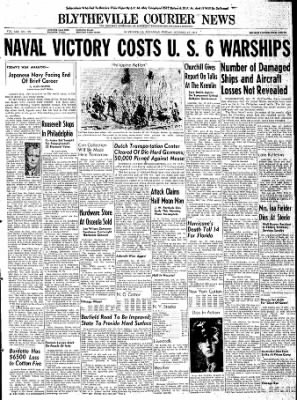 The Courier News from Blytheville, Arkansas on October 27, 1944 · Page 1