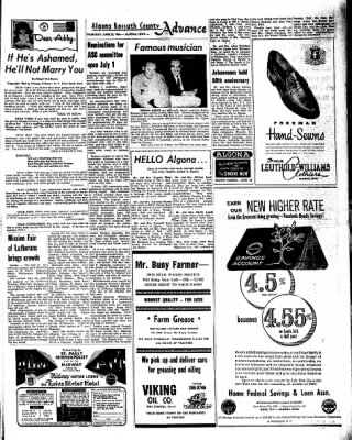 Kossuth County Advance from Algona, Iowa on June 23, 1966 · Page 9