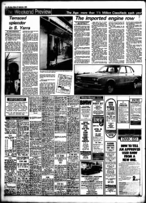 The Age from Melbourne, Victoria, Australia on September 27, 1985
