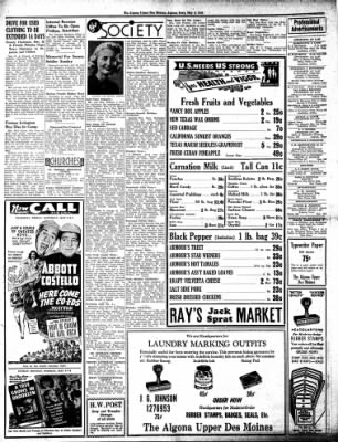 The Algona Upper Des Moines from Algona, Iowa on May 3, 1945 · Page 6