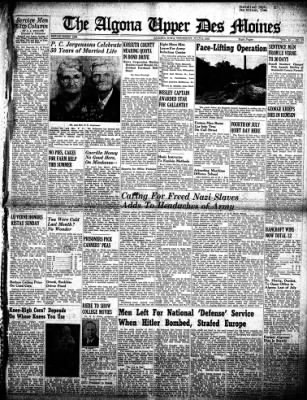 The Algona Upper Des Moines from Algona, Iowa on July 5, 1945 · Page 1