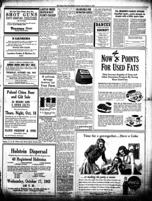 The Algona Upper Des Moines from Algona, Iowa on October 11, 1945 · Page 6