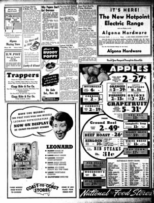 The Algona Upper Des Moines from Algona, Iowa on November 8, 1945 · Page 4