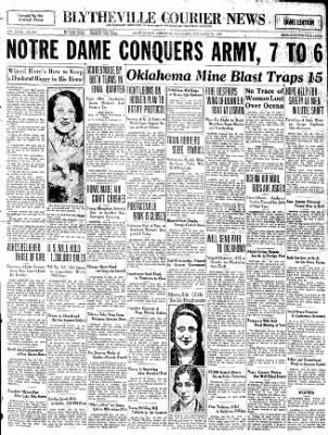 The Courier News from Blytheville, Arkansas on November 29, 1930 · Page 1