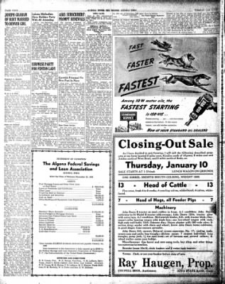 The Algona Upper Des Moines from Algona, Iowa on January 8, 1946 · Page 7