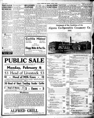 The Algona Upper Des Moines from Algona, Iowa on January 29, 1946 · Page 10
