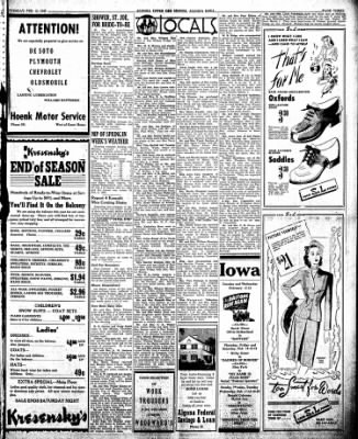 The Algona Upper Des Moines from Algona, Iowa on February 12, 1946 · Page 3