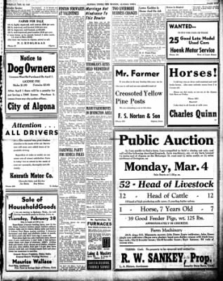 The Algona Upper Des Moines from Algona, Iowa on February 26, 1946 · Page 5