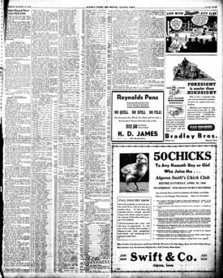 The Algona Upper Des Moines from Algona, Iowa on March 19, 1946 · Page 13