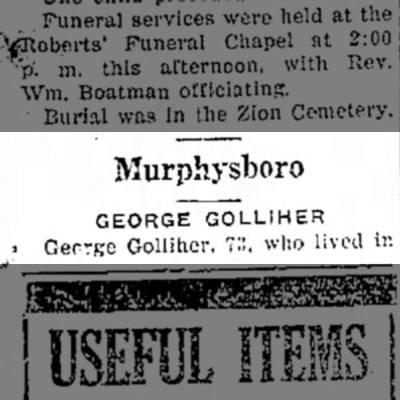 - Murphysboro GEORGE GOLLIHER • George Golliher,...