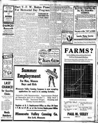 The Algona Upper Des Moines from Algona, Iowa on May 21, 1946 · Page 8