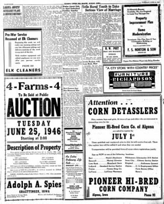 The Algona Upper Des Moines from Algona, Iowa on June 18, 1946 · Page 12