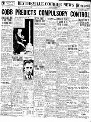 The Courier News from Blytheville, Arkansas on February 2, 1934 · Page 1