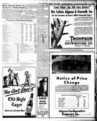 The Algona Upper Des Moines from Algona, Iowa on July 9, 1946 · Page 10