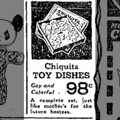 - Chiquita TOY DISHES Cay and f% Colorful . W A...
