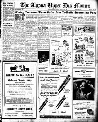 The Algona Upper Des Moines from Algona, Iowa on August 20, 1946 · Page 9