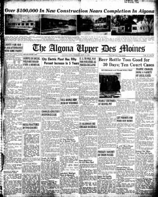 The Algona Upper Des Moines from Algona, Iowa on September 3, 1946 · Page 1
