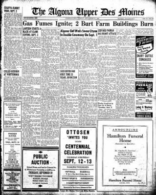 The Algona Upper Des Moines from Algona, Iowa on September 10, 1946 · Page 7