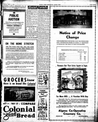 The Algona Upper Des Moines from Algona, Iowa on September 17, 1946 · Page 7