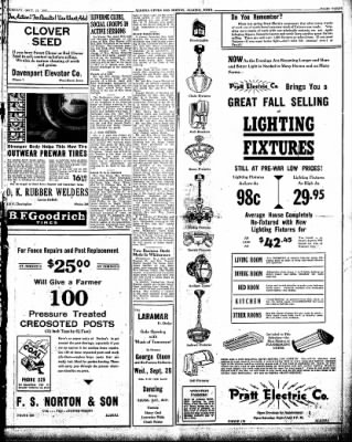The Algona Upper Des Moines from Algona, Iowa on September 24, 1946 · Page 9