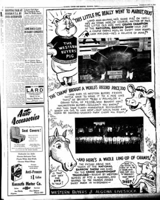 The Algona Upper Des Moines from Algona, Iowa on October 8, 1946 · Page 12