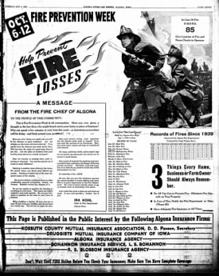 The Algona Upper Des Moines from Algona, Iowa on October 8, 1946 · Page 15