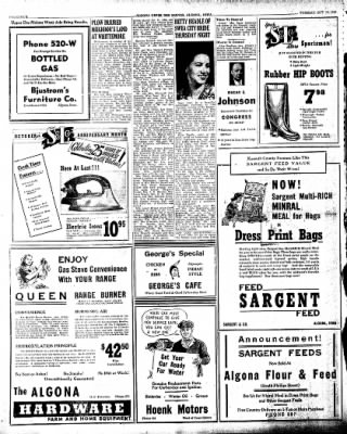 The Algona Upper Des Moines from Algona, Iowa on October 15, 1946 · Page 4
